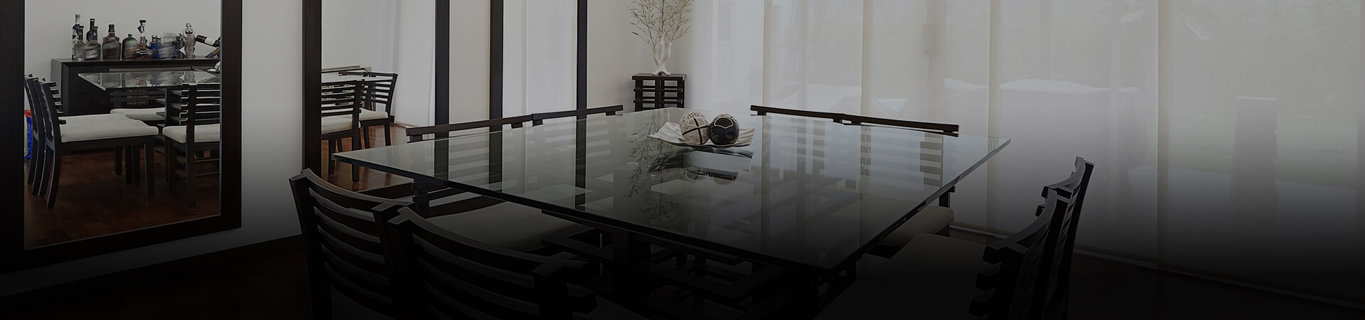 Customised mirrors and tables